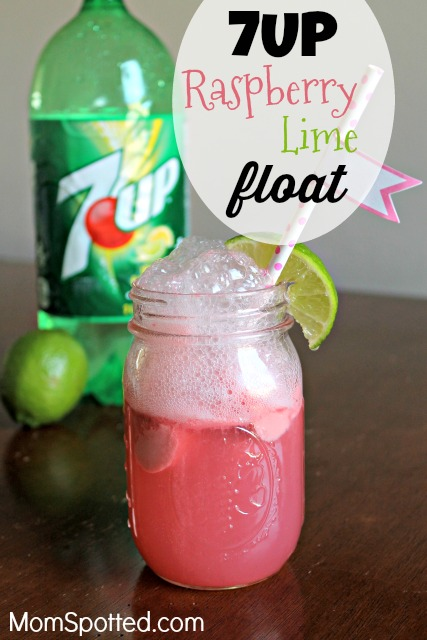 Mix It Up With 7UP® Raspberry Lime Floats