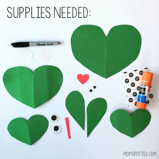Heart Shaped Frog Valentine Craft
