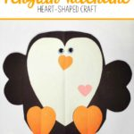 Penguin Valentine Hug Heart-Shaped Craft