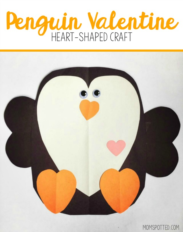 Penguin Valentine Heart Shaped Craft   Mom Spotted