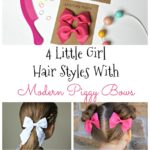 Four Little Girl Hair Styles Ideas With Modern Piggy Bows {& Store Credit Giveaway}