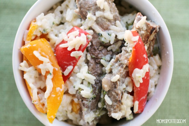 Philly Style Steak & Peppers Rice Dinner Recipe