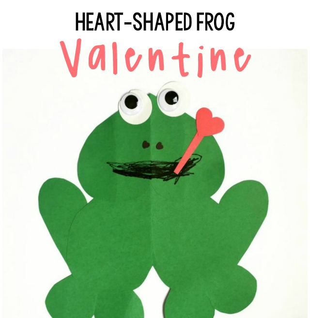 Heart-Shaped Frog Valentine Craft