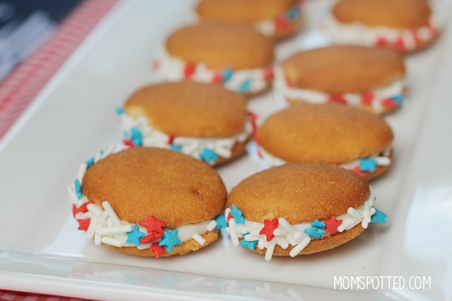 Easy Red White & Blue Cookies with NILLA Wafers