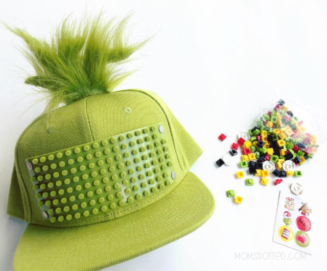Dr. Seuss The Grinch Bricky Blocks Build-On Snapback Hat Kit