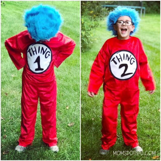 Sawyer Dr. Seuss Cat in the Hat Thing 1&2 Deluxe Costume Kids M 8-10