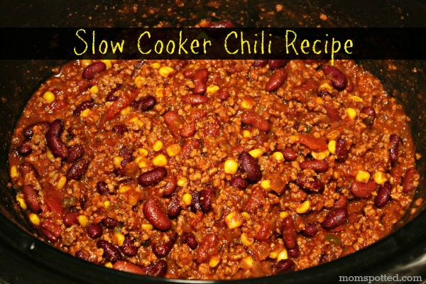 Slow Cooker Chili #Recipe #momspotted