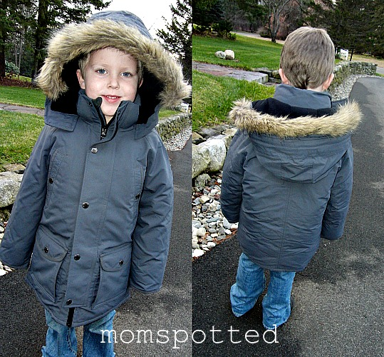 22a1a16e7 Gavin didn't jump up and down or refuse this jacket. It's most like the  ones I buy him every year. While this coat didn't have as many bells and  whistles it ...