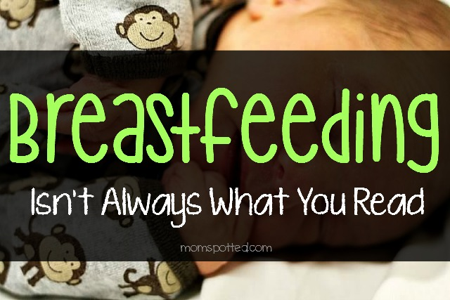Breastfeeding is hard and isn't always what you read