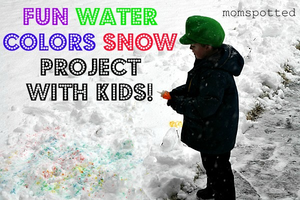 Fun Water Colors Snow Project With Kids!