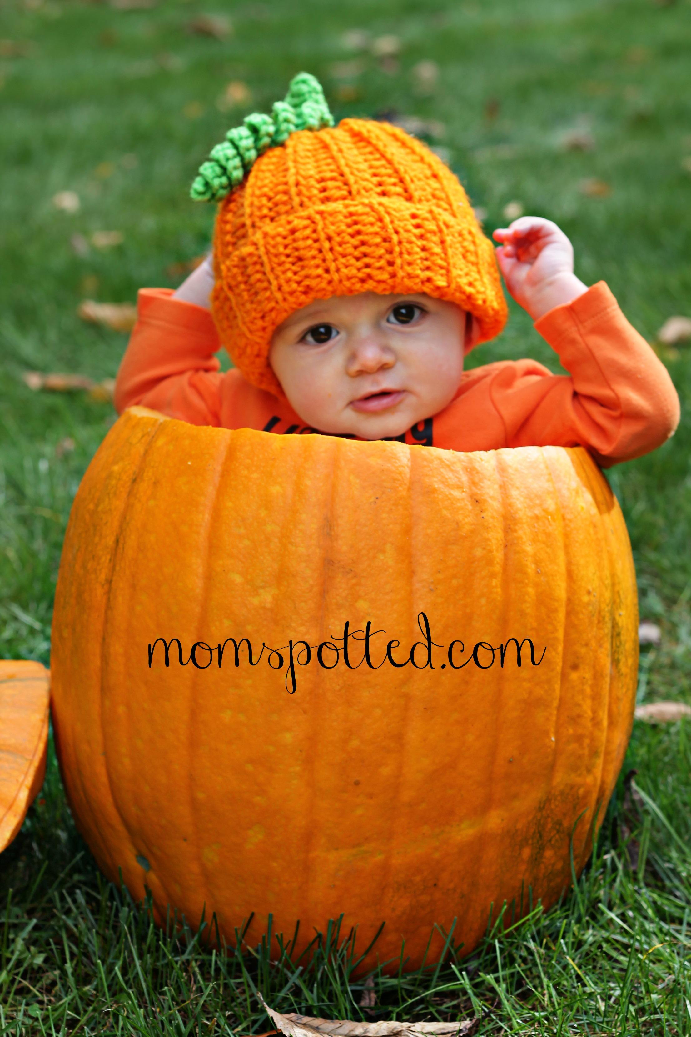 Sawyer Pumpkin Infant Fall Photography Ideas