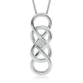 Infinity X Infinity Diamond Pendant