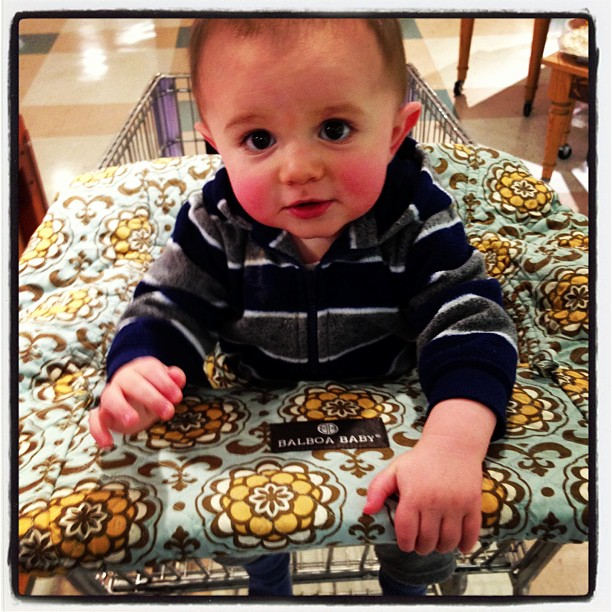 sawyer in balboa cart cover 9 months #momspotted