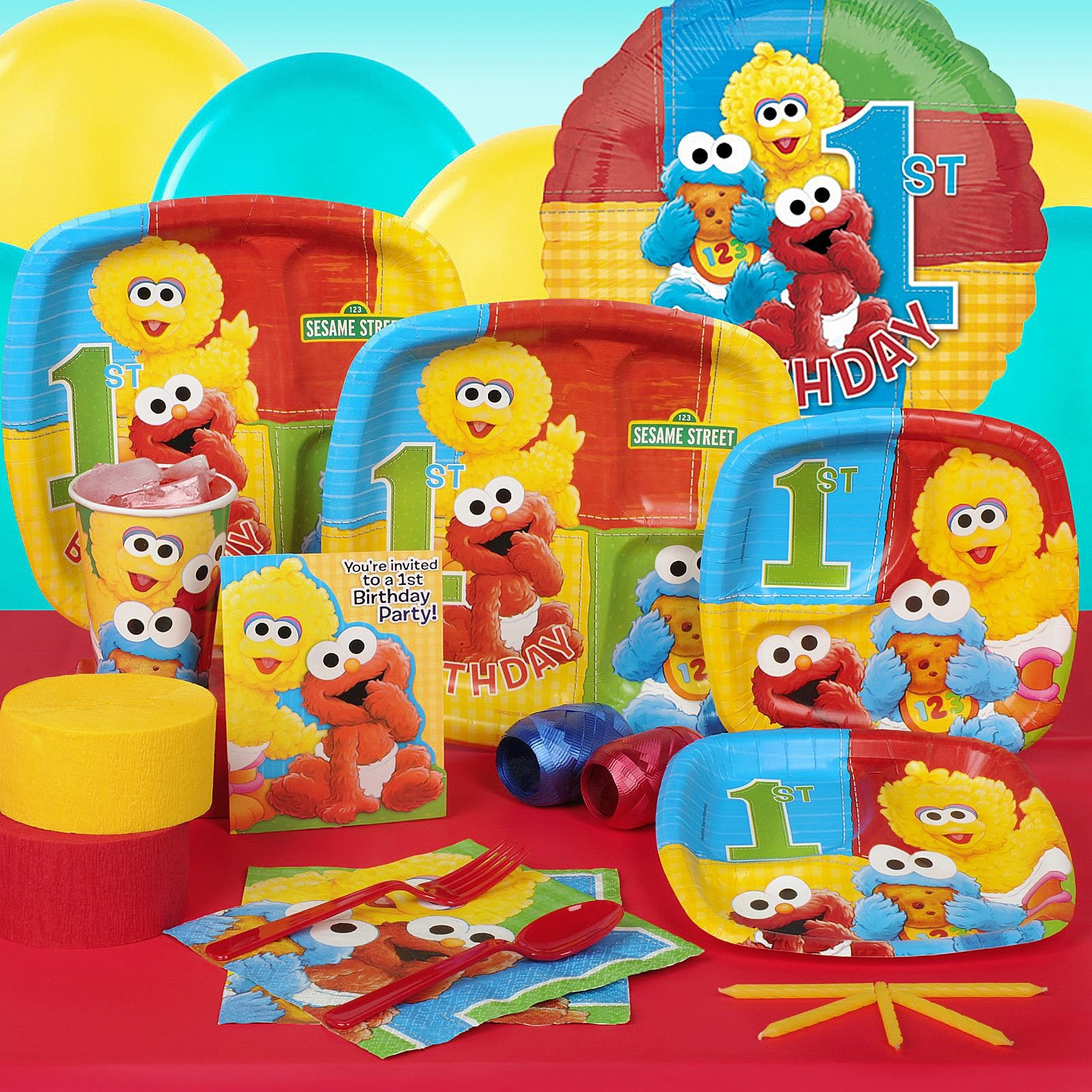 Sesame Street 1st Birthday Party Theme