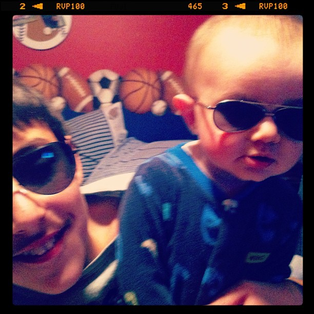 johnny sawyer in sunglasses baby aviator shades #momspotted