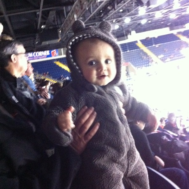 Sawyers 1st Springfield Falcons Hockey Game #momspotted