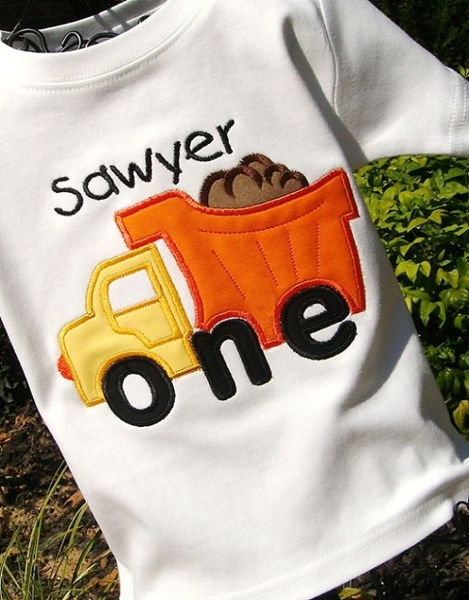 Sawyer dump truck t shirt