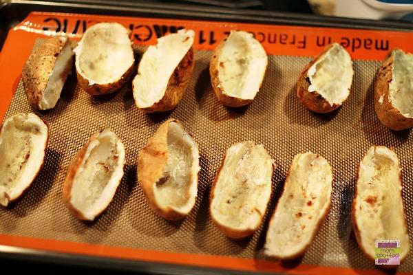 Bacon Loaded Twice Baked Potato Skins 3