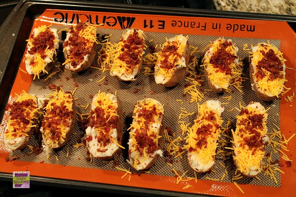 Bacon Loaded Twice Baked Potato Skins 7