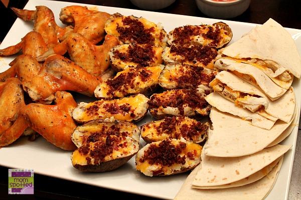 Bacon Loaded Twice Baked Potato Skins Super Bowl Platter