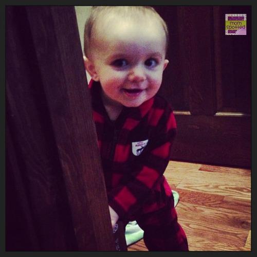 Play peekaboo baby Sawyer James  #momspotted