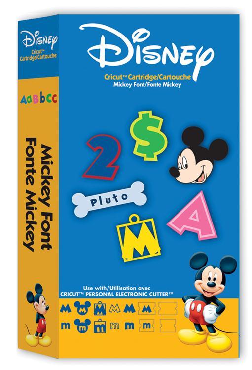 Disney© Mickey Font Cricut® Cartridge