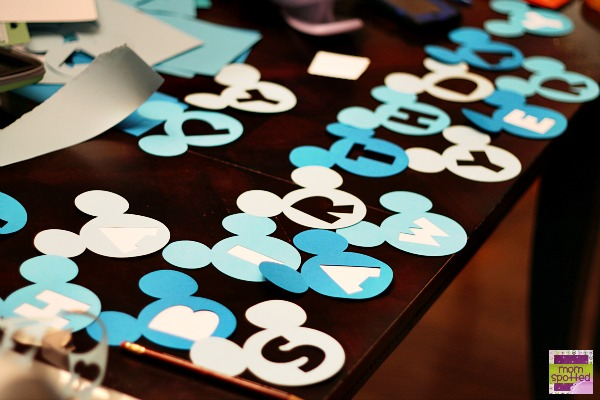 Disney's Mickey Mouse Birthday Name Banner {Cricut Craft Tutorial}