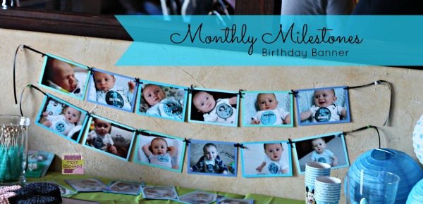 Monthly Milestone Birthday Banner for 1st Birthday! {Craft Tutorial}
