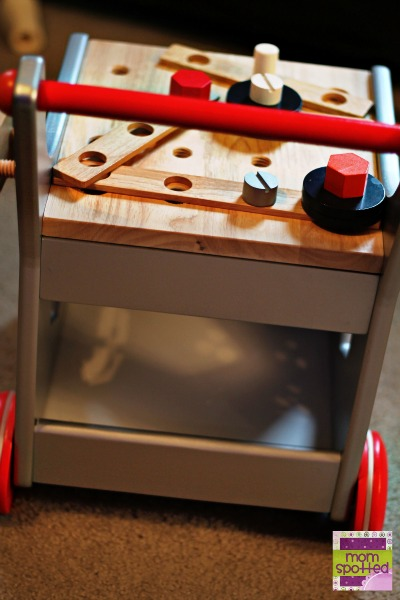 Wooden Magnetic Toolbox Trolley Set with Tools and Building Supplies from Magic Cabin