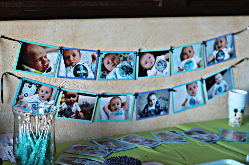 Sawyer's 1st Birthday Party {Mickey Mouse Themed} Baby Blue #momspotted #PartyCity