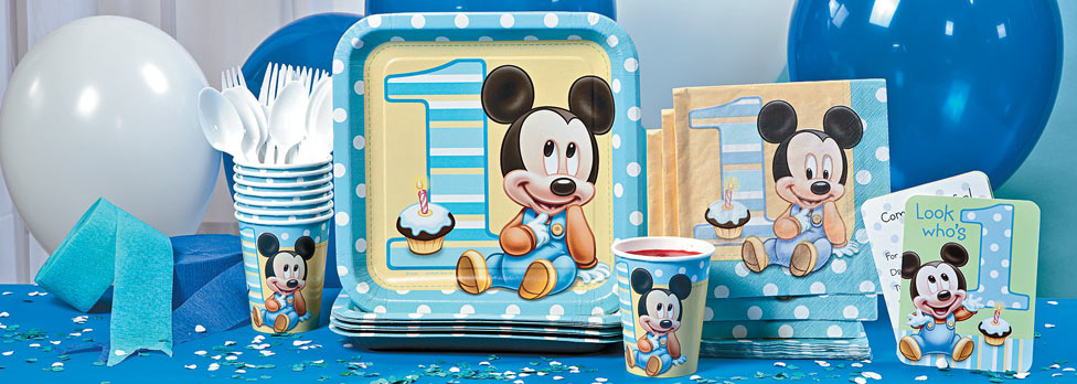 Mickey Mouse 1st Birthday Party Supplies City