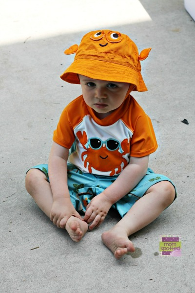 Crabby Sawyer in Gymboree Swim suit