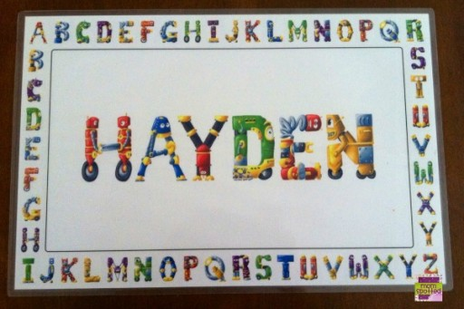 Name Art's Personalized Placemat