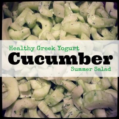 Healthy Greek Yogurt Cucumber Salad Recipe a