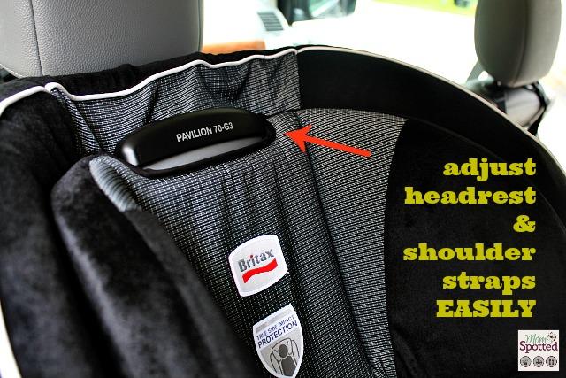 #Britax Pavilion 70-G3 Car Seat. Adjusting Headrest and shoulder straps