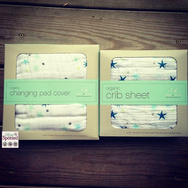 organic crib sheets & Changing pad covers