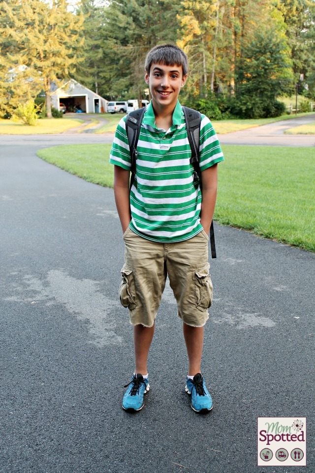 Johnny 1st day of 7th grade