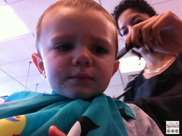 Sawyer's 1st Haircut