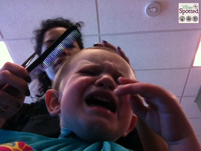 Sawyer's 1st Haircut Crying