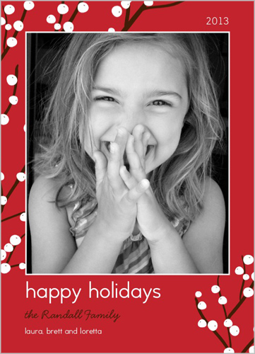 Berry Merry Frame Holiday Card