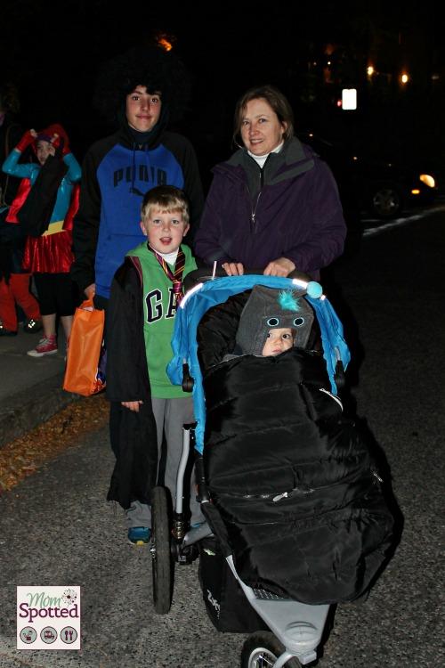 Rag Shag Halloween Parade Sawyer Johnny Gavin Grandma
