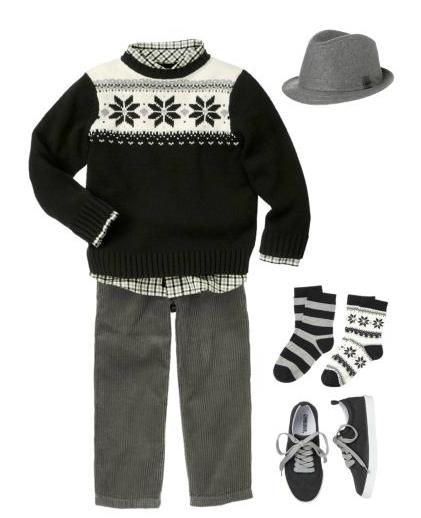 fair isle boy gymboree family looks sweater