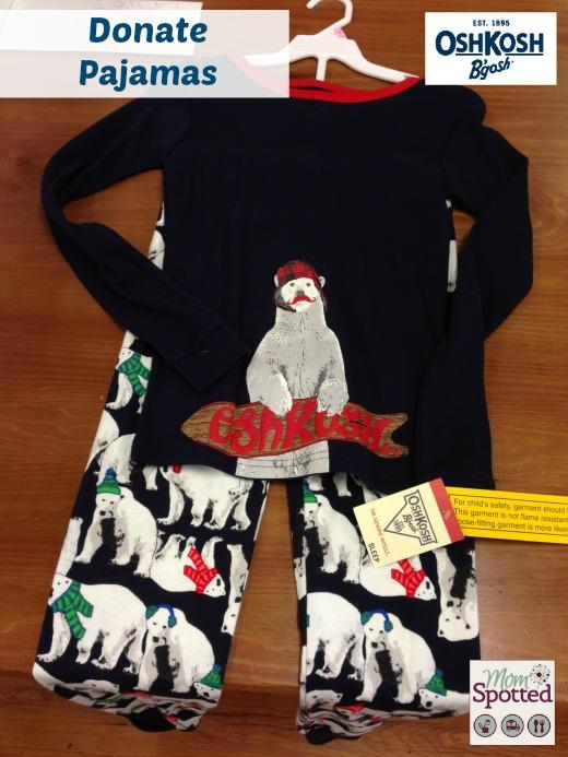 oshkosh Donate Pajamas