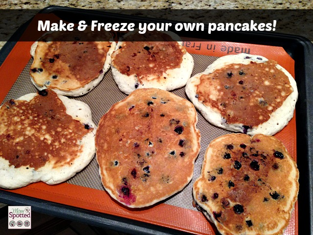 Make & Freeze your own pancakes! #momspotted
