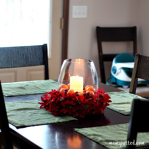 Easy Low Budget Holiday Centerpiece Ideas #HalosFun