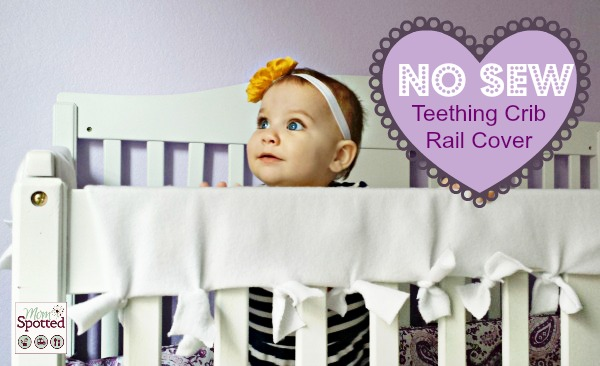 No Sew Teething Crib Rail Cover