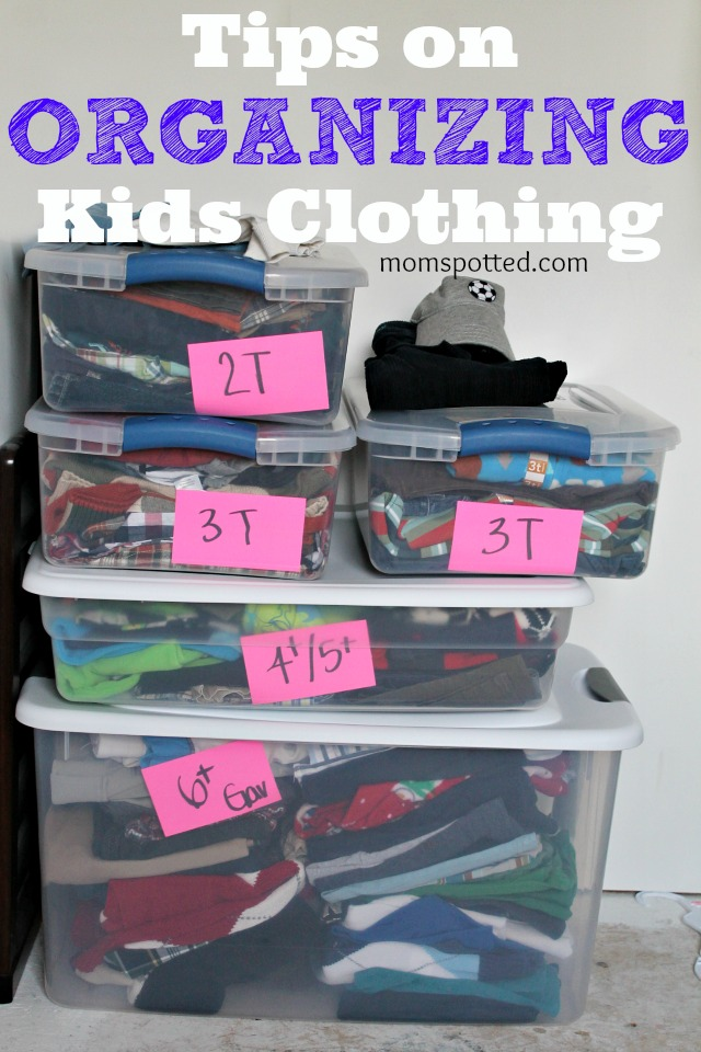 Tips on How To Organizing Kids Clothing #momspotted