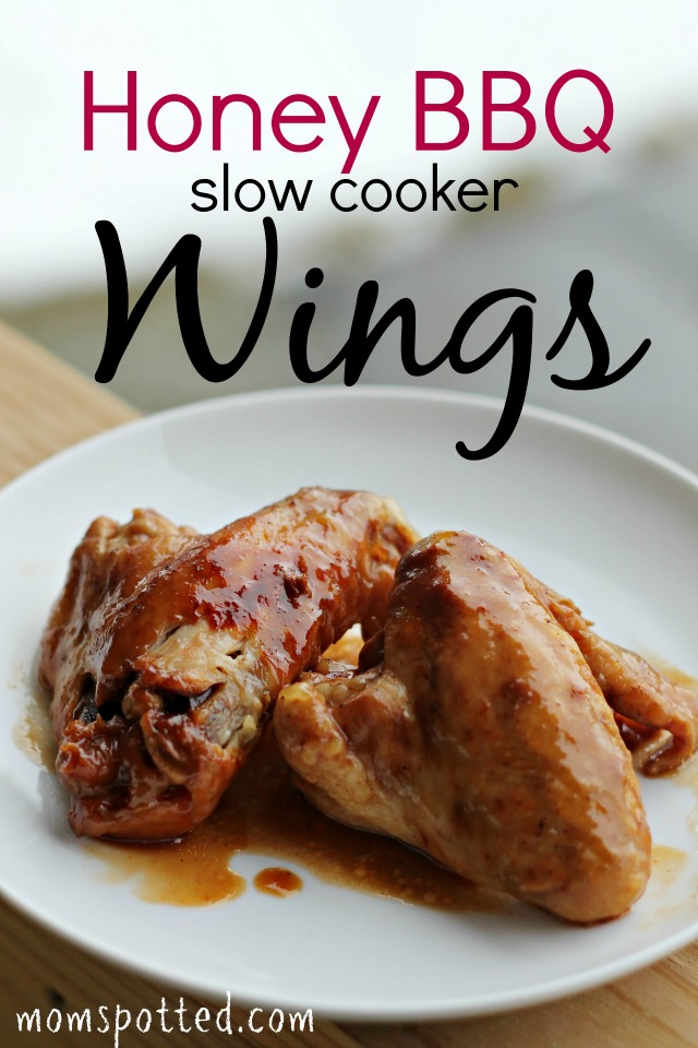 Honey BBQ Slow Cooker Wings Recipe #momspotted