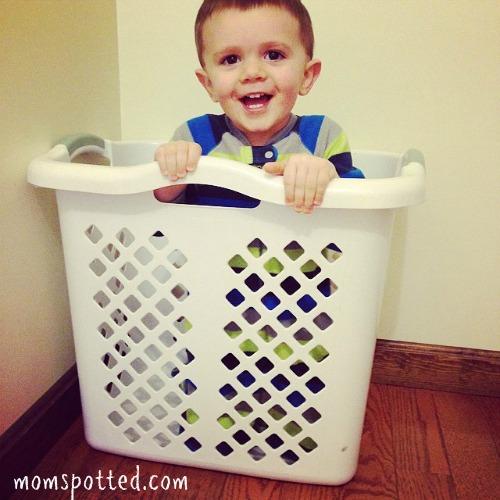 Sawyer James Instagram Laundry Basket Milestone Birthday TWO