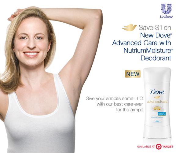 New Dove Advanced Care With NutriumMoisture Deodorant